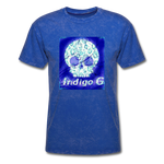 Load image into Gallery viewer, Blue Skull - 3930 Men's T-Shirt - Indigo G - Indigo G