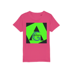 Load image into Gallery viewer, Indigo G Lime Green COLLECTION Organic Jersey Kids T-Shirt - Indigo G