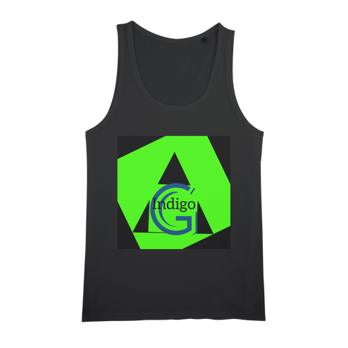 Indigo G Lime Green COLLECTION Organic Jersey Unisex Tank Top - Indigo G