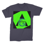 Load image into Gallery viewer, Indigo G Lime Green COLLECTION Premium Jersey Men's T-Shirt - Indigo G