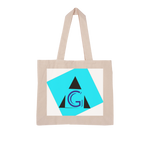 Load image into Gallery viewer, Indigo G Apparel-Dropship Blue G Collection Large Organic Tote Bag - Indigo G