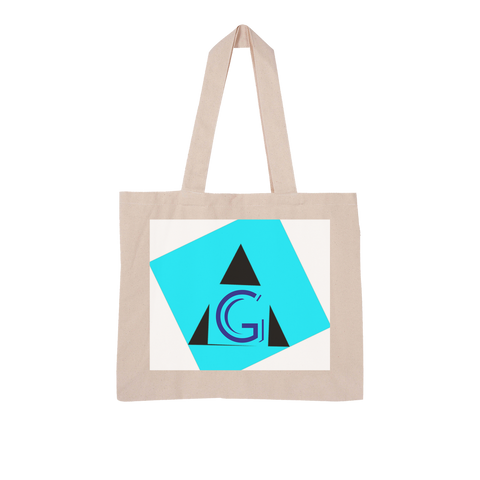 Indigo G Apparel-Dropship Blue G Collection Large Organic Tote Bag - Indigo G