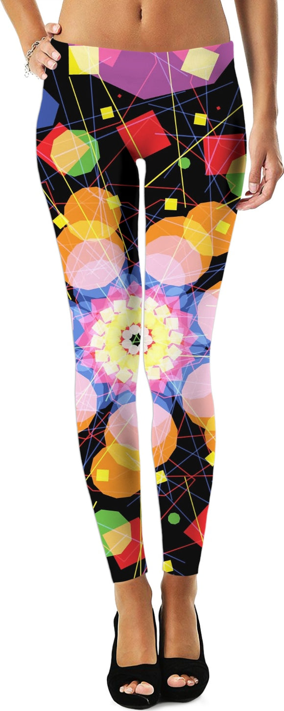 Geometric Chakra women's leggings