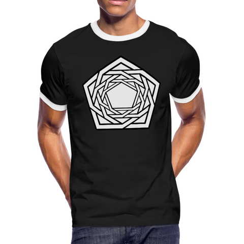 Flower of Life - Men's Ringer T-Shirt - Indigo G - Indigo G