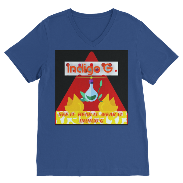Red Triangle Classic V-Neck T-Shirt - Indigo G - Indigo G