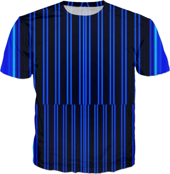 Blue Bars Men's tee