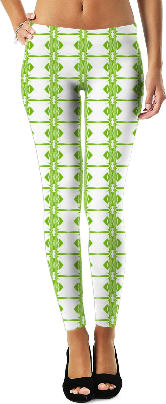 Green barbed wire women's leggings