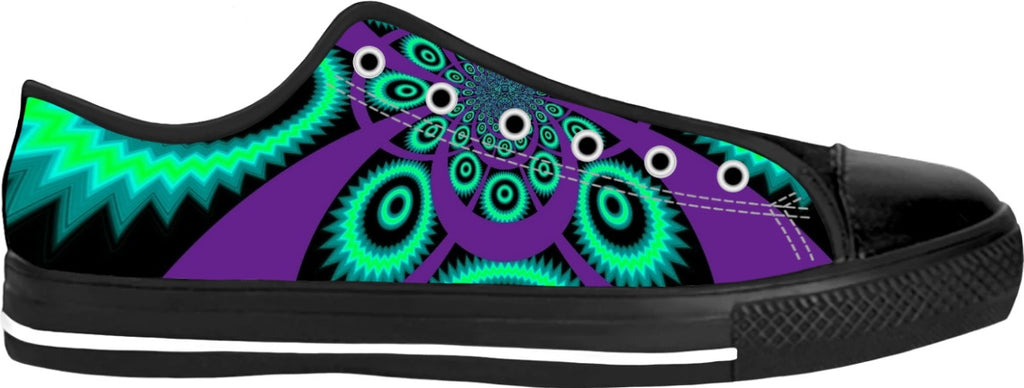 Purple Fractal Custom Swanky shoes - the-Indigo-G-experience - Indigo G