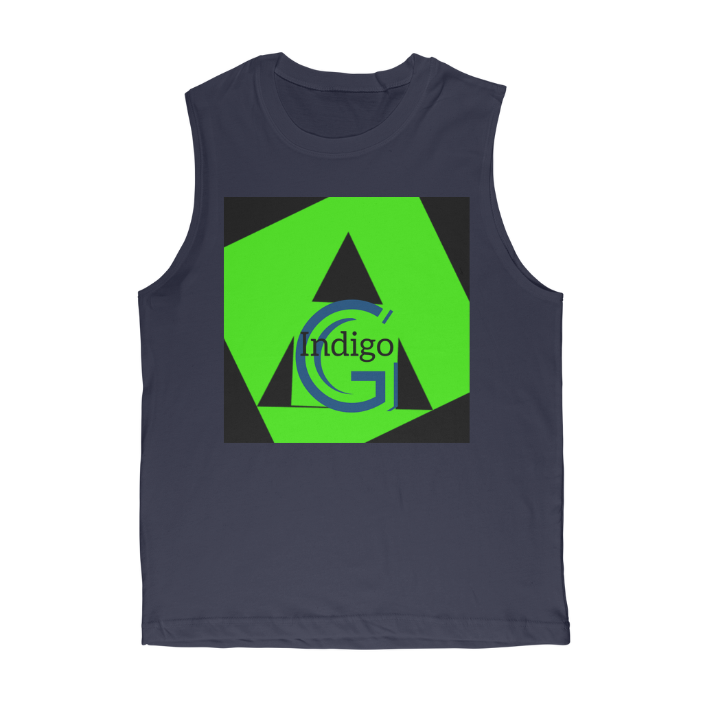 Lime Green COLLECTION Classic Adult Muscle Top - the -Indigo-G-experience - Indigo G