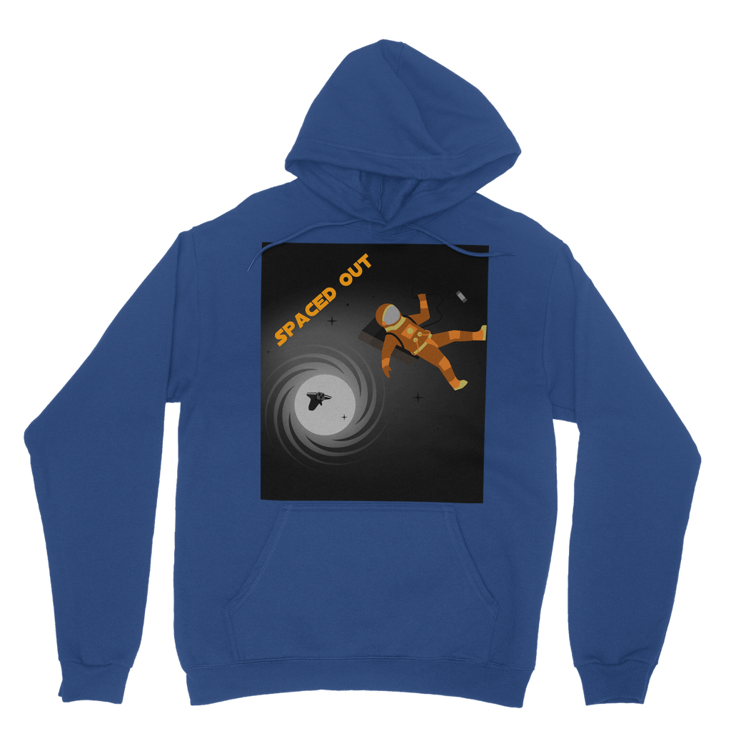 Indigo G Spaced Out Orange Space Classic Adult Hoodie - Indigo G