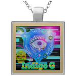 Load image into Gallery viewer, Digi Tears 2 - Square Necklace