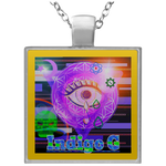 Load image into Gallery viewer, Digi Tears 1 - Square Necklace