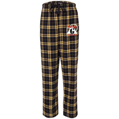 Custom 1 - Black & Gold Unisex Flannel Pants - Indigo G - Indigo G