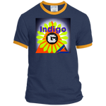 Load image into Gallery viewer, Fractangle - Port & Co. Ringer Tee - Indigo G - Indigo G