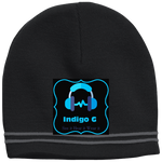 Load image into Gallery viewer, Headphones - Sport Tek Colorblock Beanie - Indigo G - Indigo G