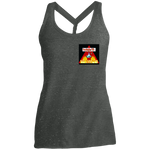 Load image into Gallery viewer, Fire Wings - Ladies' Cosmic Twist Back Tank - Indigo G - Indigo G