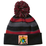 Load image into Gallery viewer, Sun_29_09_2019_18_10_15 223835 Holloway Striped Beanie with Pom - Indigo G