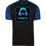 Load image into Gallery viewer, Blue Triangle -ST371 Sport-Tek CamoHex Colorblock T-Shirt - Indigo G - Indigo G