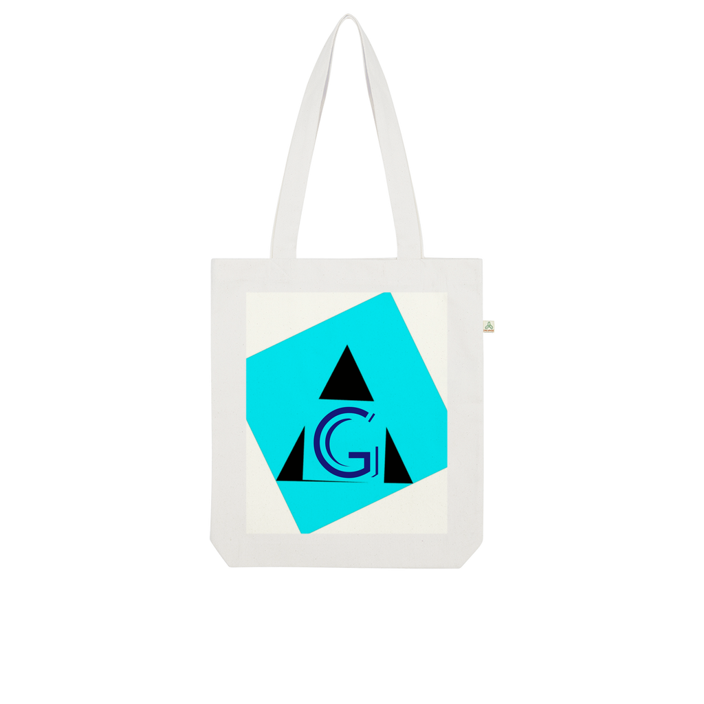Indigo G Apparel-Dropship Blue G Collection Organic Tote Bag - Indigo G