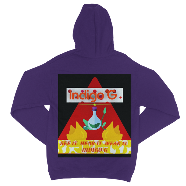 Red Triangle Indigo G Classic Adult Zip-Up Hoodie - Indigo G