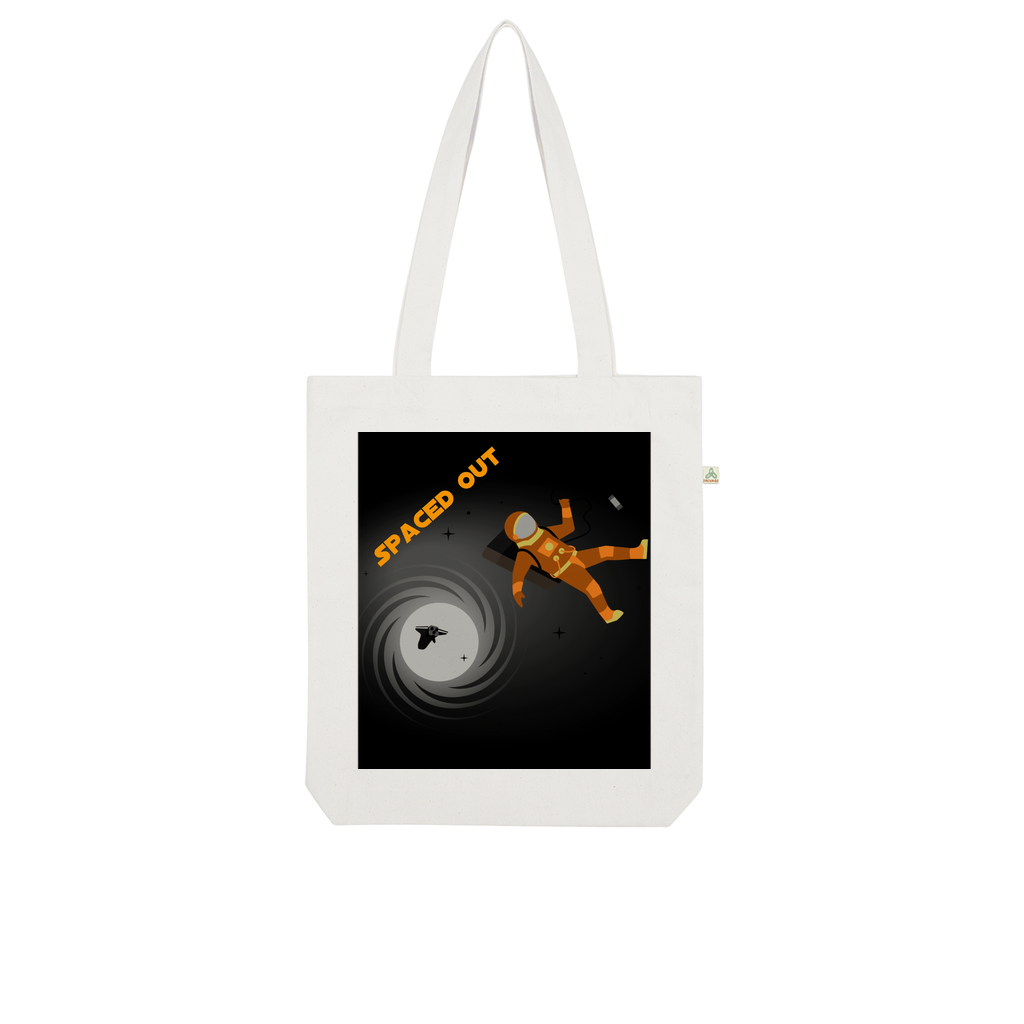 Spaced Out Orange Space Collection Organic Tote Bag - Indigo G