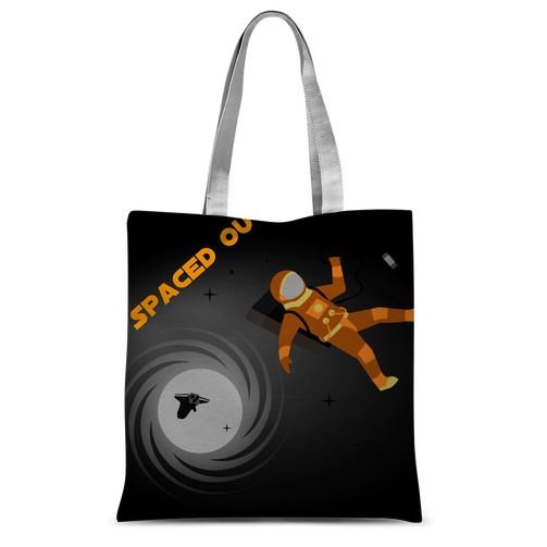Spaced Out Orange Space Collection Classic Sublimation Tote Bag - Indigo G