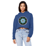 Load image into Gallery viewer, Lucky 7 Unisex Cropped Raw Edge Boyfriend Hoodie