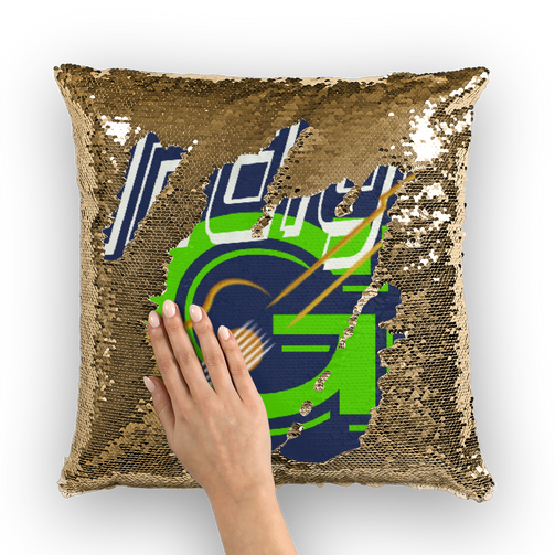 Indigo G Guitar Sequin Cushion Cover - Indigo G