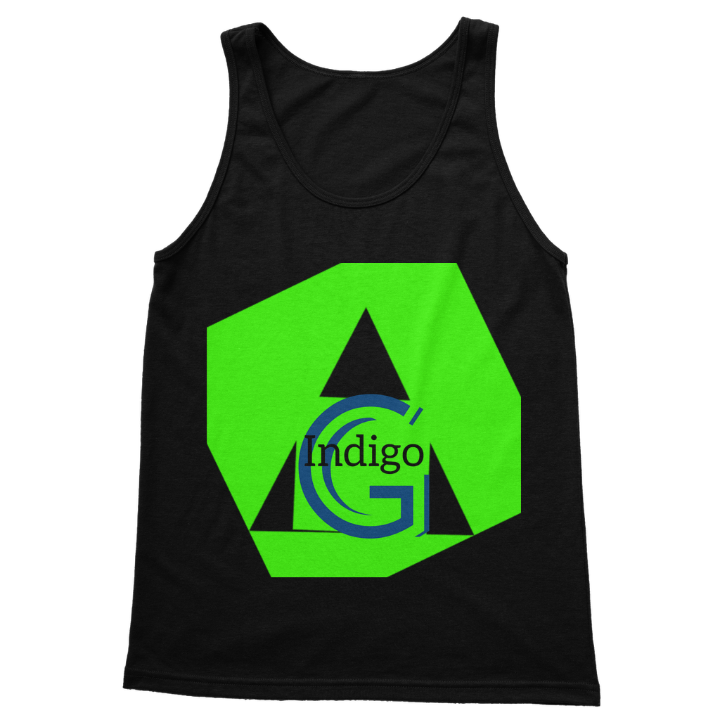 Indigo G Lime Green COLLECTION Classic Adult Vest Top - Indigo G
