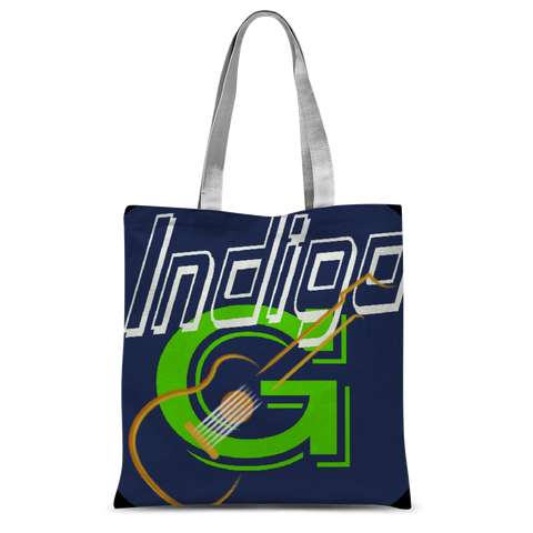 Indigo G Guitar Classic Sublimation Tote Bag - Indigo G