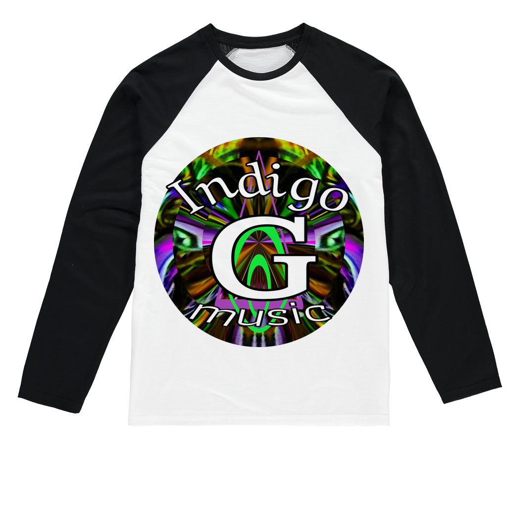 Indigo G Music Sublimation Baseball Long Sleeve T-Shirt