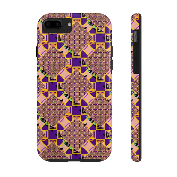 Glitchy Tough Phone Case - Indigo G - Indigo G