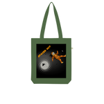 Load image into Gallery viewer, Spaced Out Orange Space Collection Organic Tote Bag - Indigo G