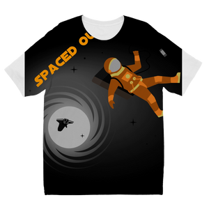 Spaced Out Orange Space Collection Sublimation Kids T-Shirt - Indigo G