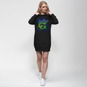 Indigo G Guitar Premium Adult Hoodie Dress - Indigo G