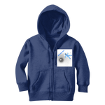 Load image into Gallery viewer, IMG_Blue Spaced Out_30062019_042919_(4200_x_4800_pixel) Classic Kids Zip Hoodie - Indigo G