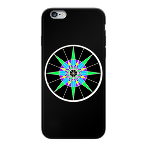 Lucky 7 Back Printed Black Soft Phone Case