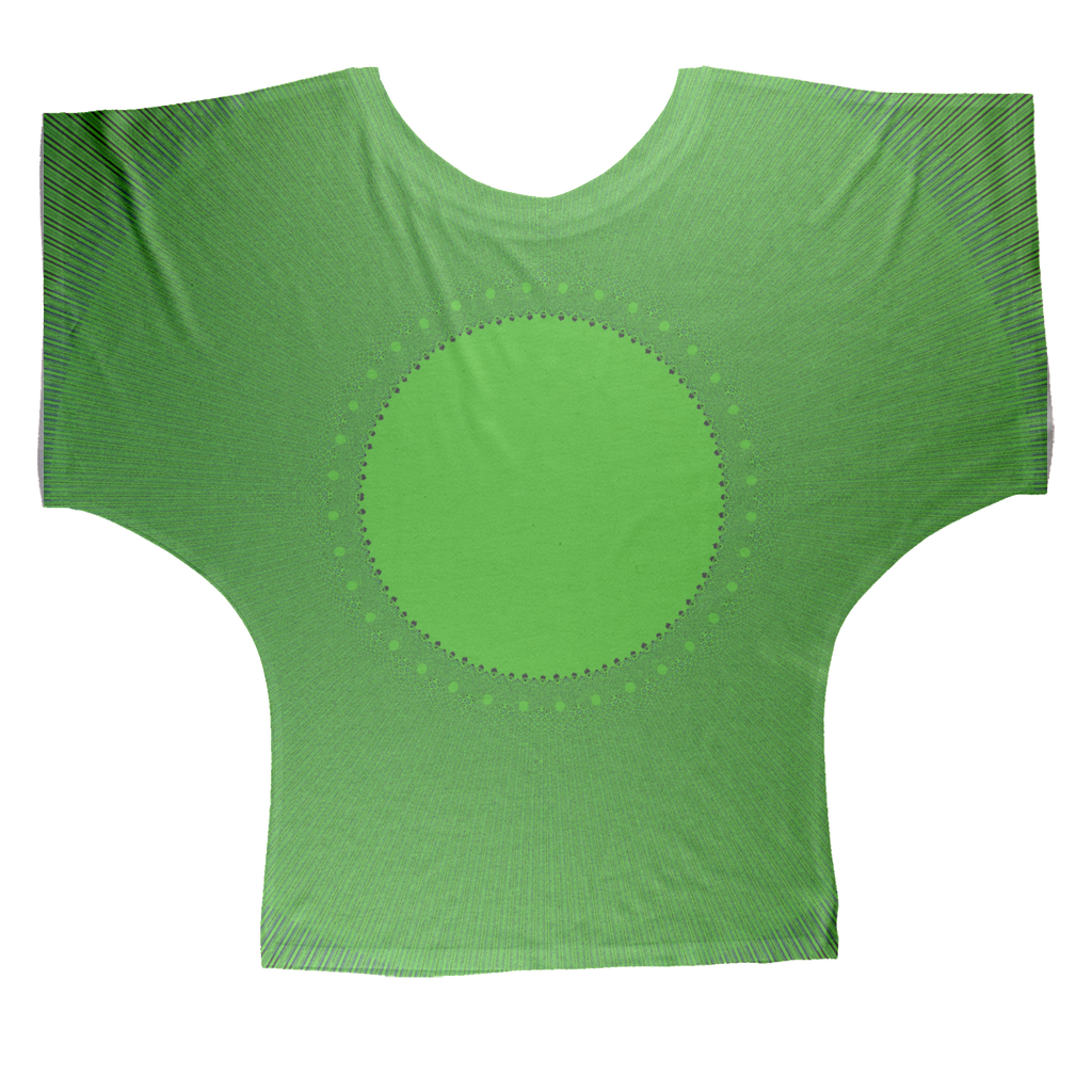 Indigo G Lime Green COLLECTION Sublimation Batwing Top - Indigo G