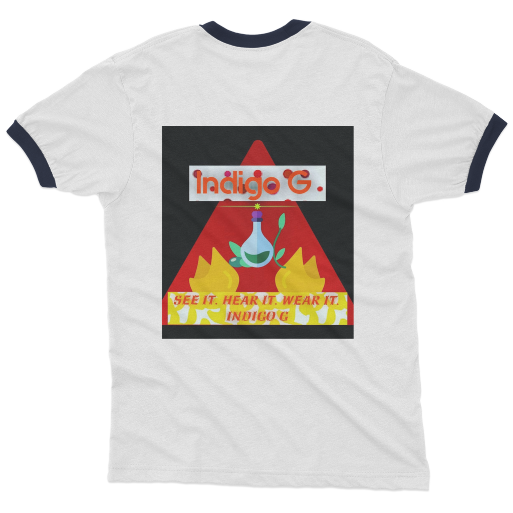 Red Triangle Adult Ringer T-Shirt - Indigo G - Indigo G