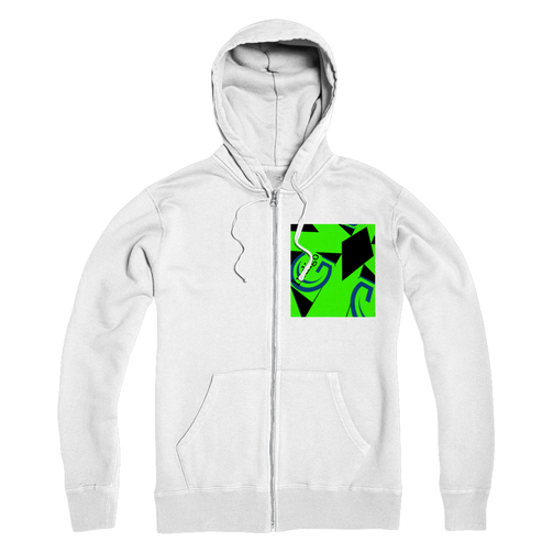 Indigo G Lime Green COLLECTION Premium Adult Zip Hoodie - Indigo G
