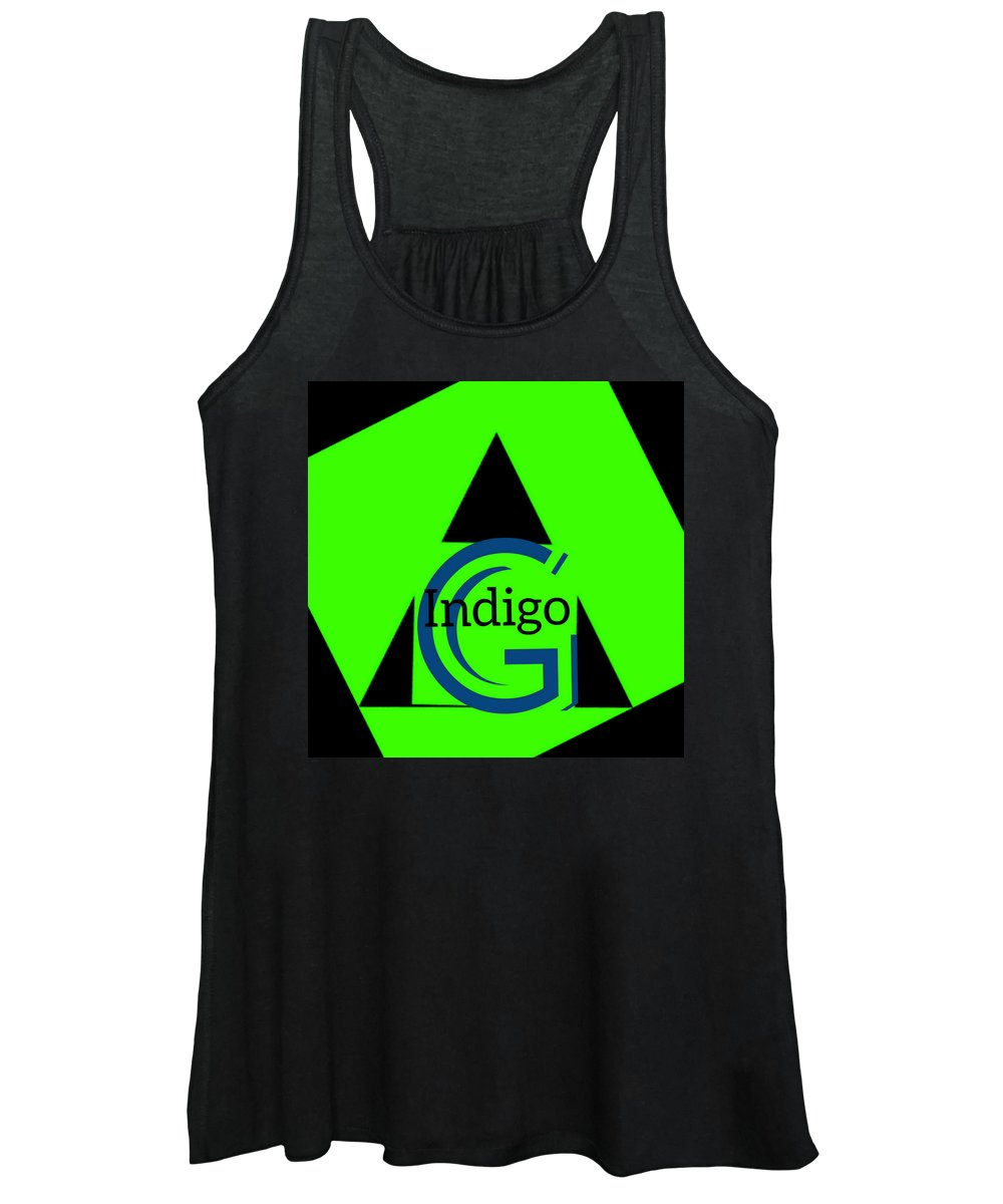 Green and Black Attack - Women's Tank Top