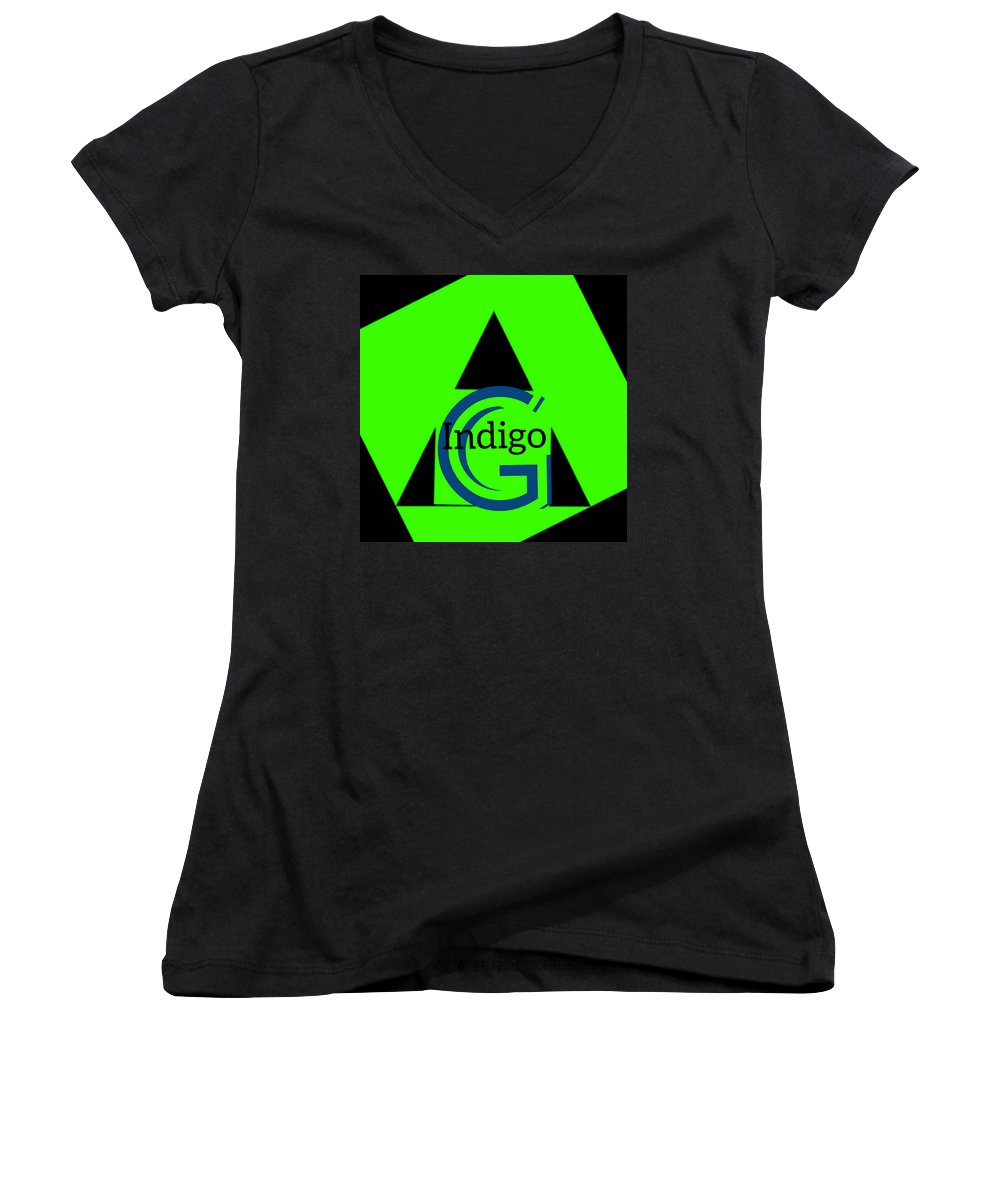 Green and Black Attack - Women's V-Neck