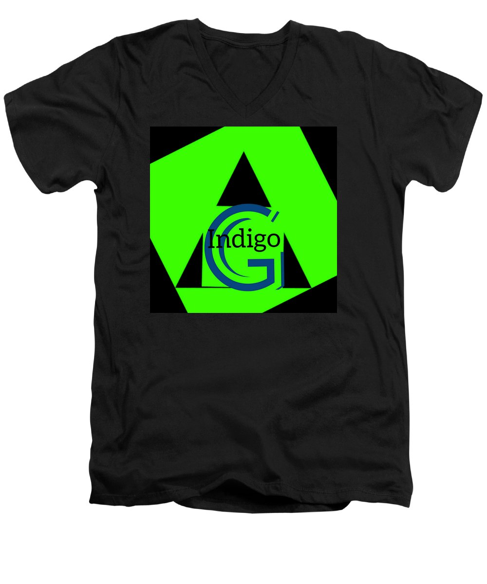 Green and Black Attack - Men's V-Neck T-Shirt