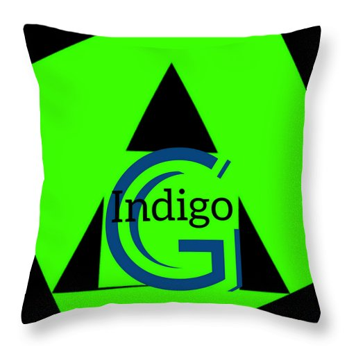 Green and Black Attack - Throw Pillow