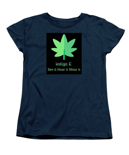 Green Leaf - Women's T-Shirt (Standard Fit) - Indigo G