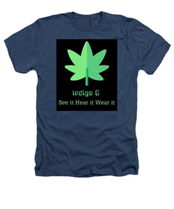 Green Leaf - Heathers T-Shirt - Indigo G