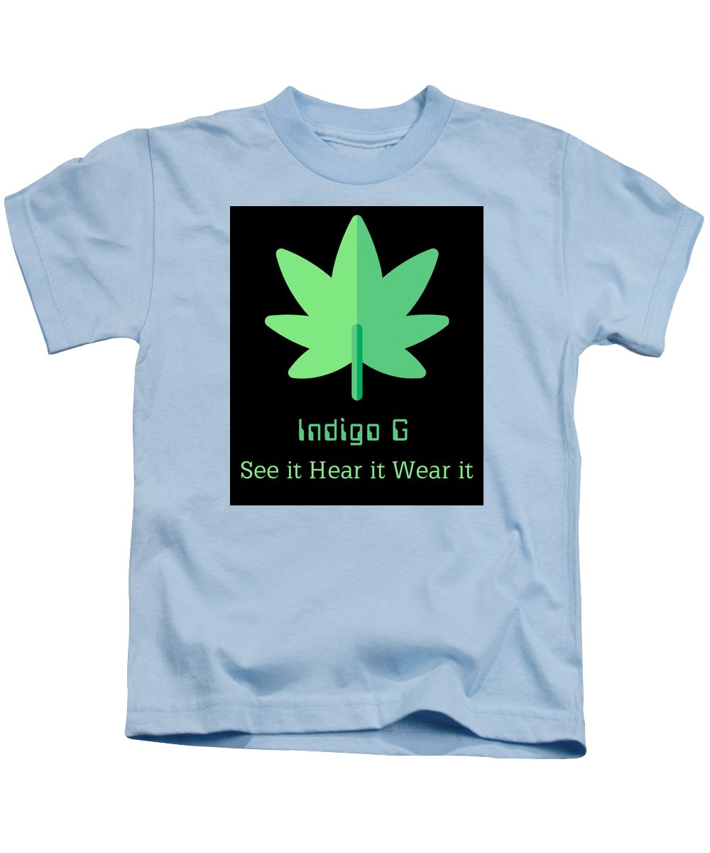 Green Leaf - Kids T-Shirt - Indigo G
