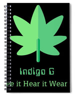 Load image into Gallery viewer, Green Leaf - Spiral Notebook