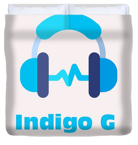 Headphones - Duvet Cover - Indigo G