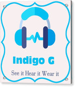 Load image into Gallery viewer, Headphones - Acrylic Print - Indigo G